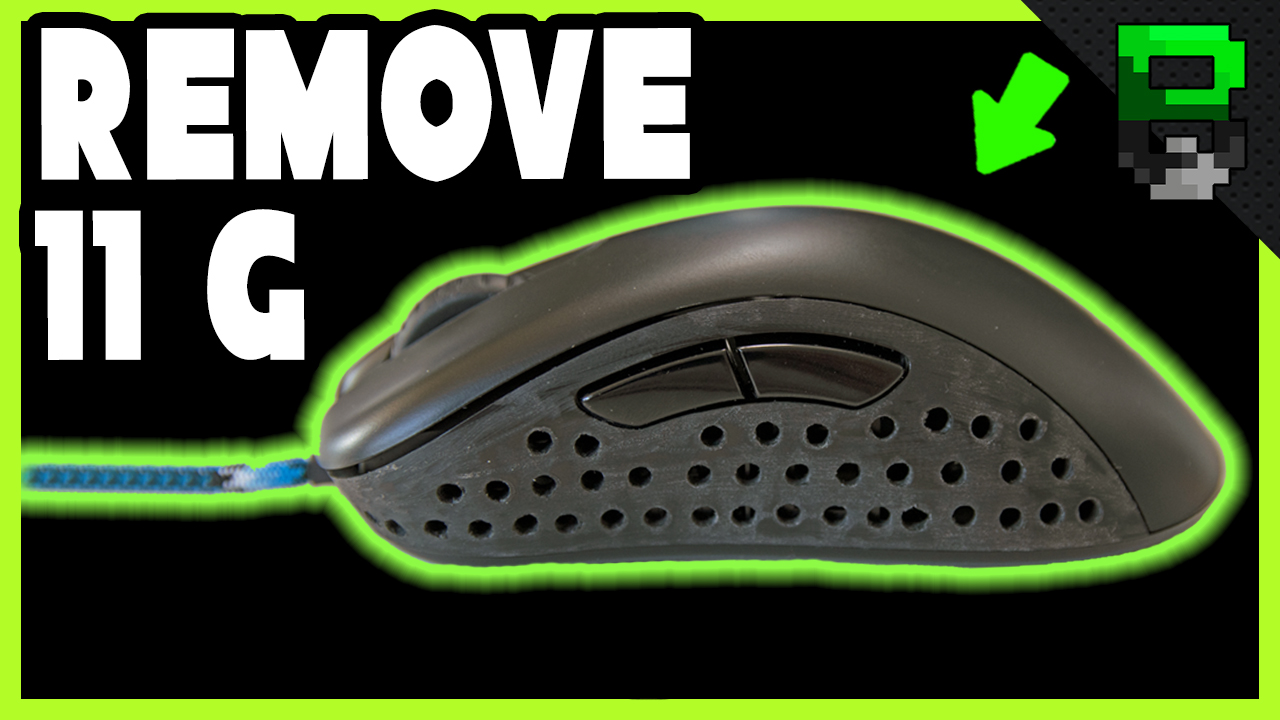 Zowie EC1 Weight Reduction and Paracord Installation